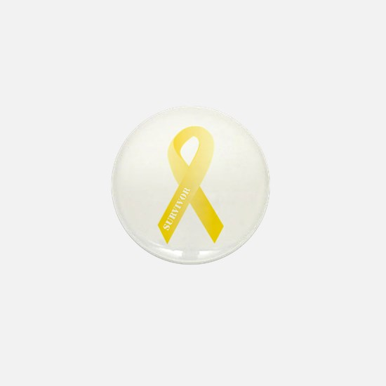 Yellow Ribbon Survivor Mini Button
