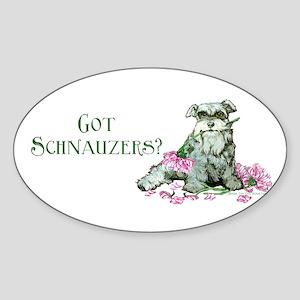 Got Schnauzers Dog Art Oval Sticker