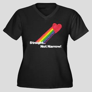 """Straight Not Narrow"" Women's Plus Size V-Neck Dar"