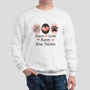 Peace Love Kerry Blue Terrier Sweatshirt
