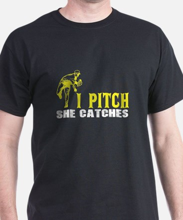 I Pitch She Catches T Shirt T-Shirt