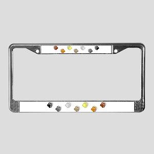 BEAR PRIDE BEAR PAWS/HORIZONTAL License Plate Fram