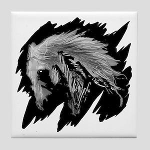 Horse Sketch Tile Coaster