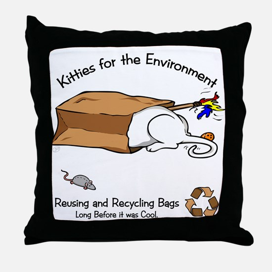 Envirocat Throw Pillow