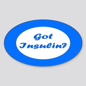 Got Insulin Oval Sticker