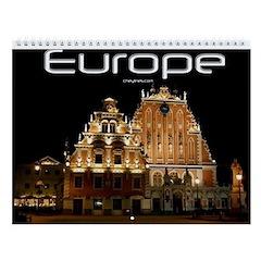 Europe Travel Wall Calendar