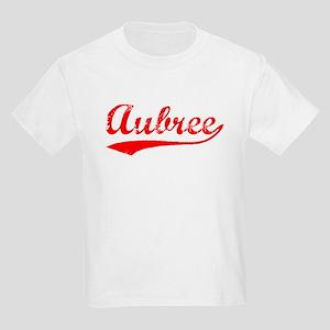 Vintage Aubree (Red) Kids Light T-Shirt