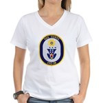 USS CURTS Women's V-Neck T-Shirt
