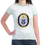 USS CURTS Jr. Ringer T-Shirt