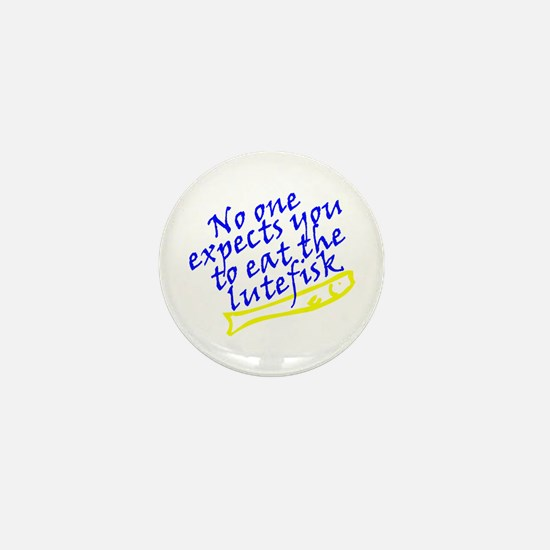 Cute Lutefisk Mini Button