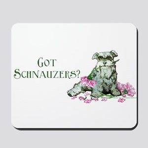 Got Schnauzers Dog Art Mousepad