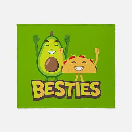 Emoji Avocado Taco Bestie Throw Blanket