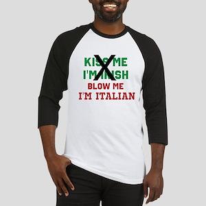 Kiss me Irish Italian Baseball Jersey