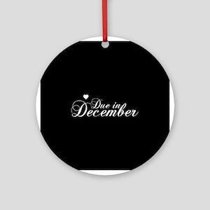 Due In December - Chopin Scri Ornament (Round)