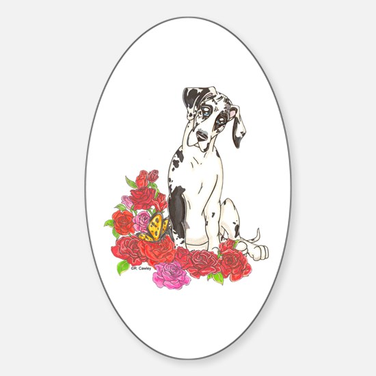 NH Spring Pup Oval Decal