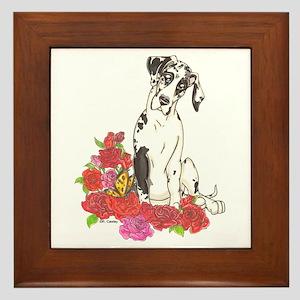 NH Spring Pup Framed Tile