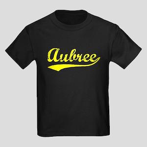 Vintage Aubree (Gold) Kids Dark T-Shirt