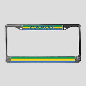 Gabon Blank Flag License Plate Frame