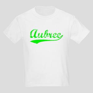 Vintage Aubree (Green) Kids Light T-Shirt