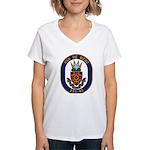 USS DE WERT Women's V-Neck T-Shirt