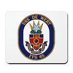 USS DE WERT Mousepad