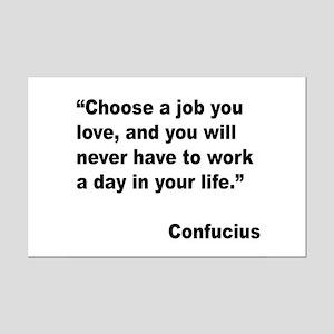 Confucius Job Love Quote Mini Poster Print