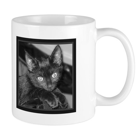 Cute Black Kitty Mug