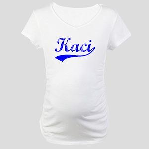 Vintage Kaci (Blue) Maternity T-Shirt