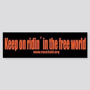 Race2aid Bumper Sticker