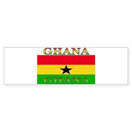 Ghana Ghanaian Flag Bumper Sticker