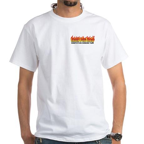 Iron Pig BBQ White T-Shirt