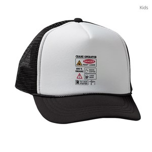 Crane Operator Kids Trucker Hats - CafePress 84bd961d891