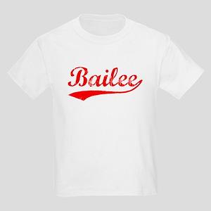 Vintage Bailee (Red) Kids Light T-Shirt