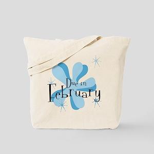 Due In February Retro Splat Tote Bag
