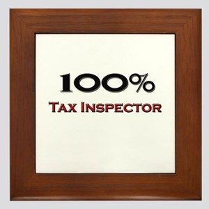 100 Percent Tax Inspector Framed Tile