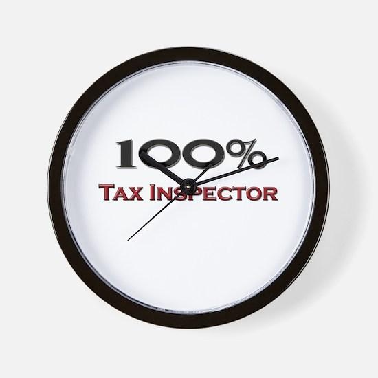 100 Percent Tax Inspector Wall Clock