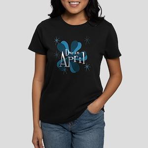 Due In April Retro Splat Women's Dark T-Shirt