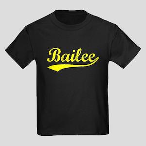 Vintage Bailee (Gold) Kids Dark T-Shirt