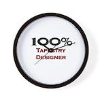 100 Percent Tapestry Designer Wall Clock
