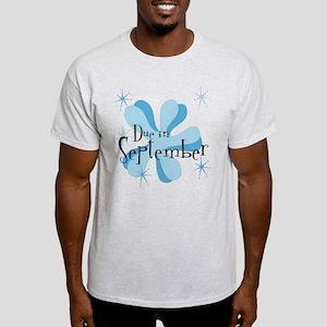 Due In September Retro Splat Light T-Shirt