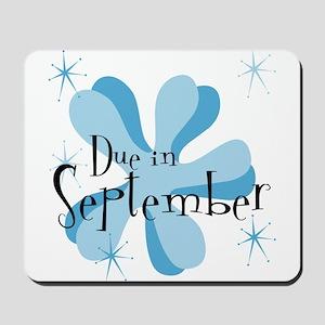 Due In September Retro Splat Mousepad