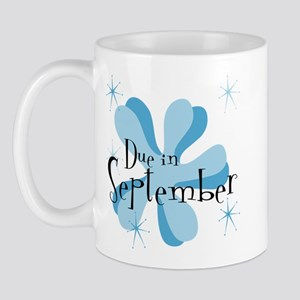 Due In September Retro Splat Mug