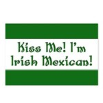 Kiss Me! I'm Irish Mexican! Postcards (Package of