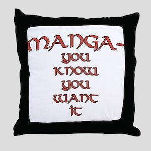 Manga fan joke Throw Pillow