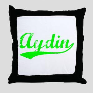 Vintage Aydin (Green) Throw Pillow