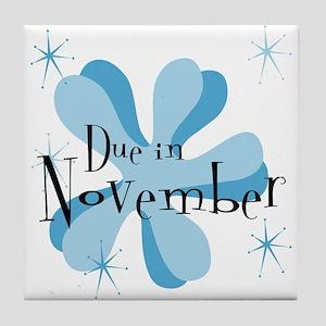 Due In November Retro Splat Tile Coaster