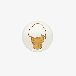 Cute Ice Cream Cone Mini Button