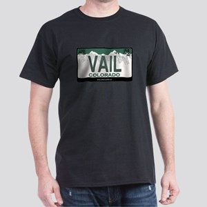 Vail License Plate Dark T-Shirt