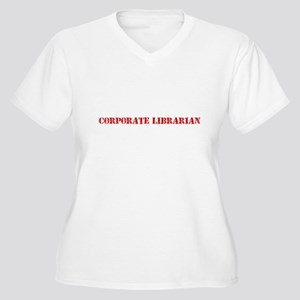 Corporate Librarian Red Stencil Plus Size T-Shirt