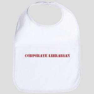 Corporate Librarian Red Stencil Design Baby Bib